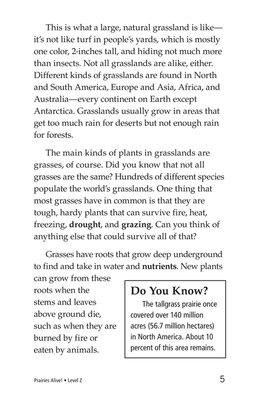 Book Preview For Prairies Alive! Page 5