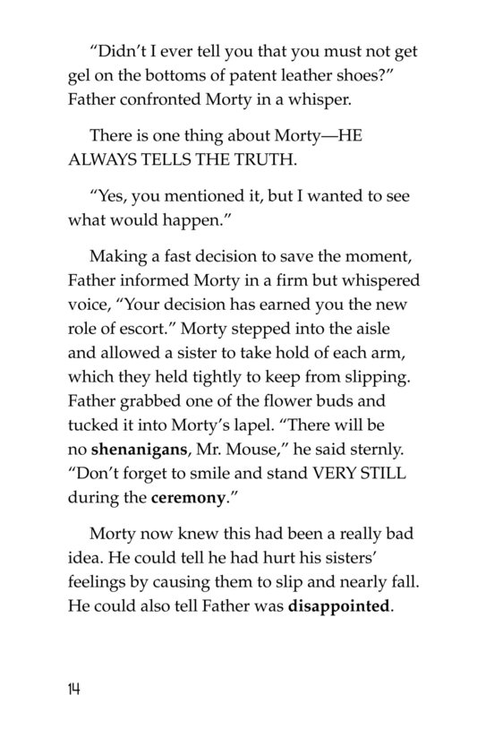Book Preview For Morty and the Fancy-Pants Wedding Page 14