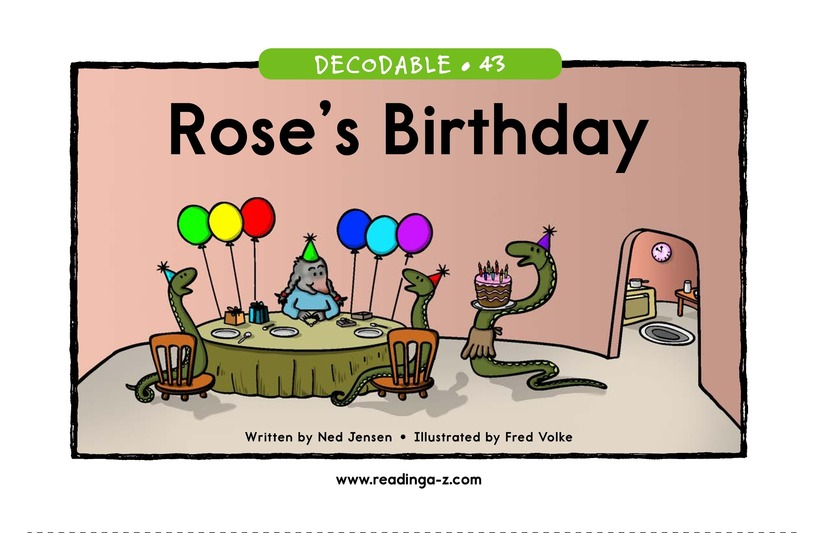 Book Preview For Rose's Birthday Page 1