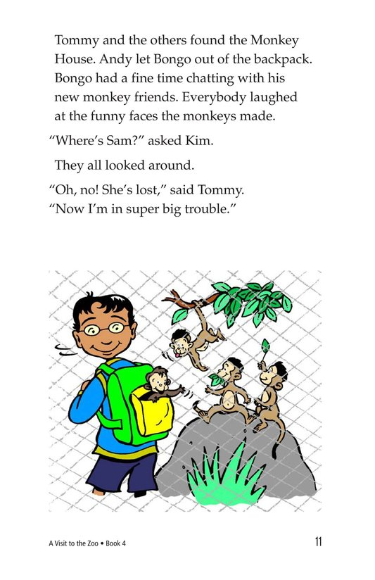 Book Preview For A Visit to the Zoo Page 11