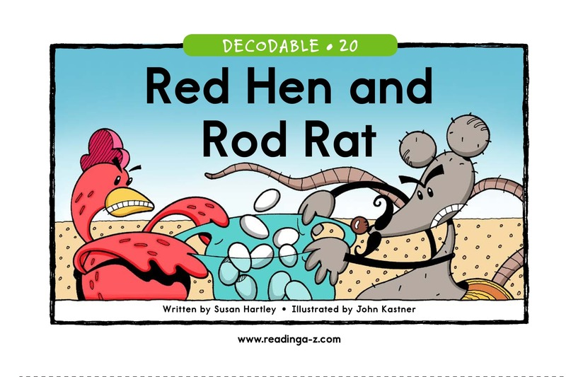 Book Preview For Red Hen and Rod Rat Page 1