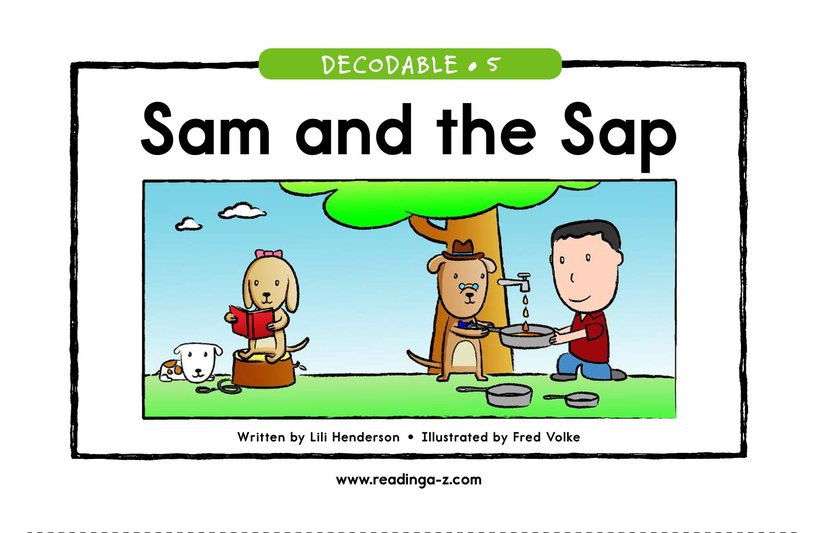Book Preview For Sam and the Sap Page 1