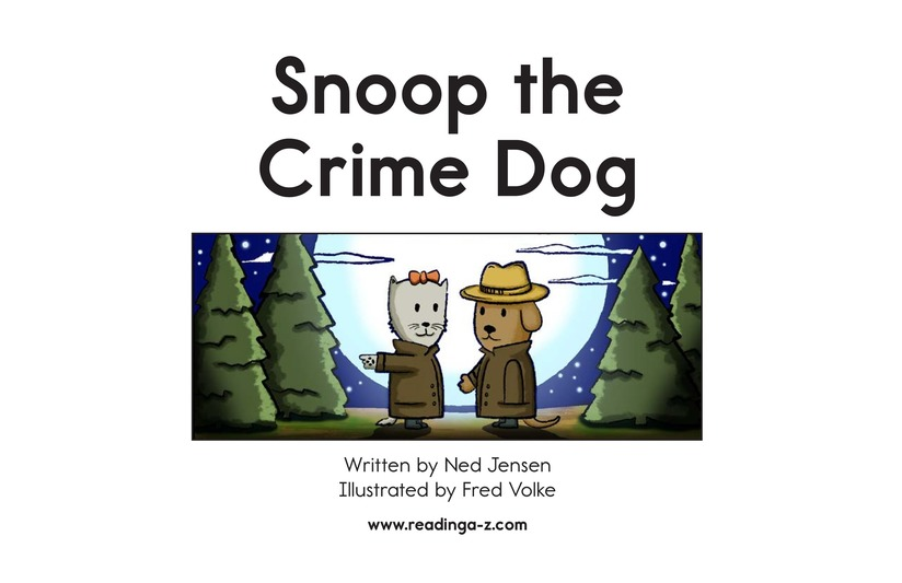 Book Preview For Snoop the Crime Dog Page 2