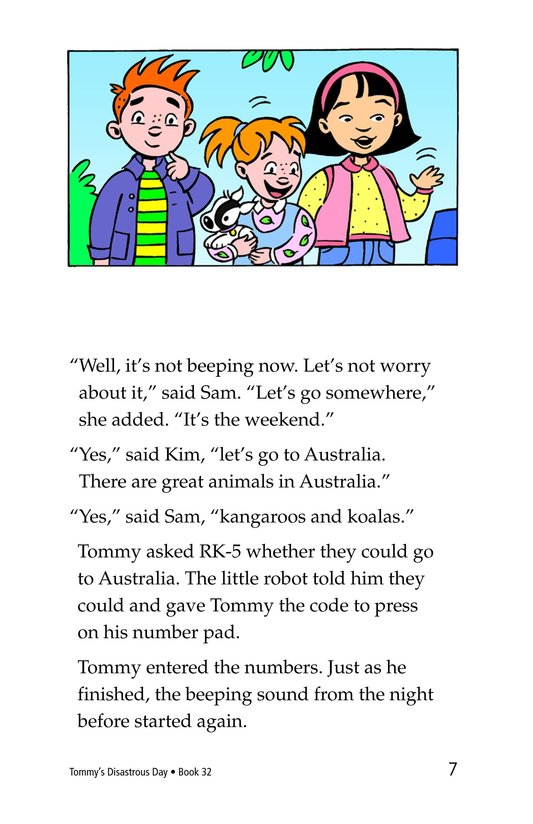 Book Preview For Tommy's Disastrous Day Page 7