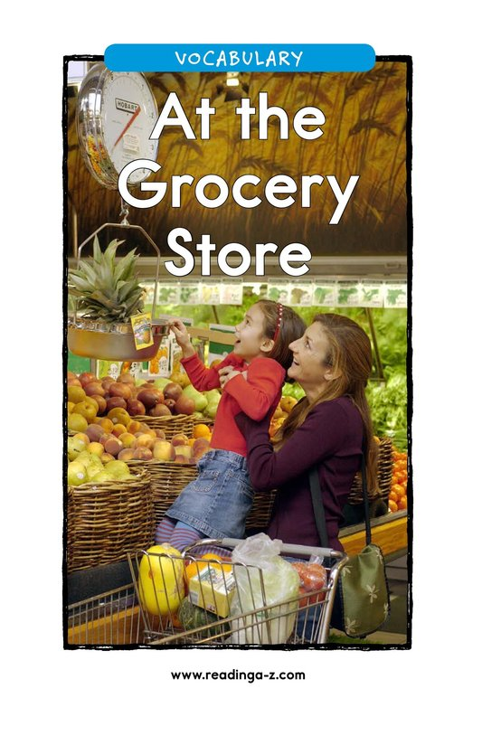 Book Preview For At the Grocery Store Page 1