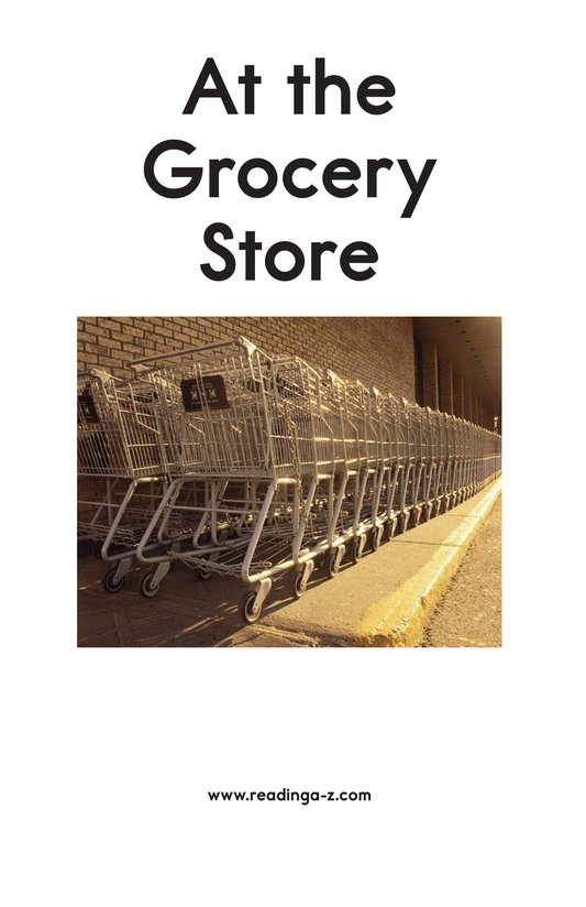 Book Preview For At the Grocery Store Page 2