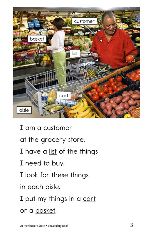 Book Preview For At the Grocery Store Page 3