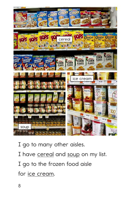 Book Preview For At the Grocery Store Page 8