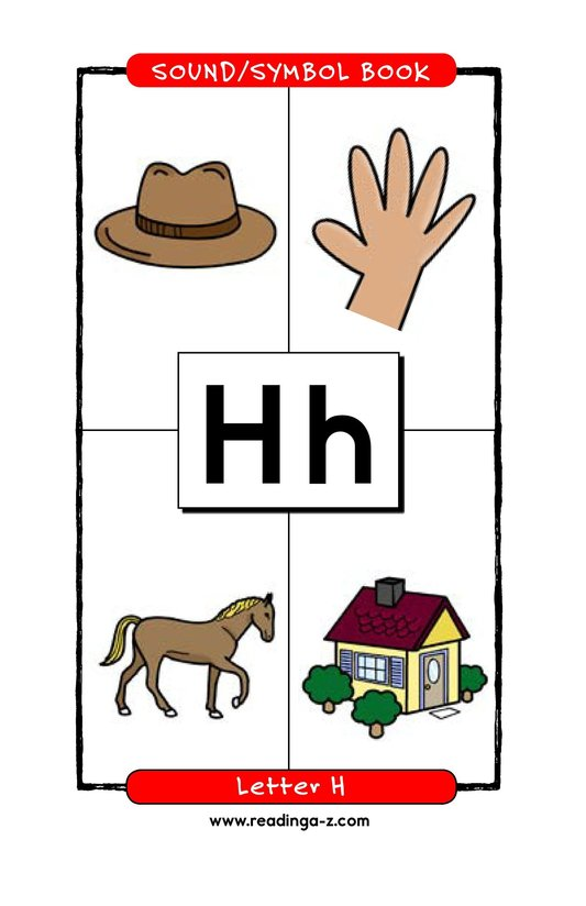 Book Preview For Consonant Letter H Page 1