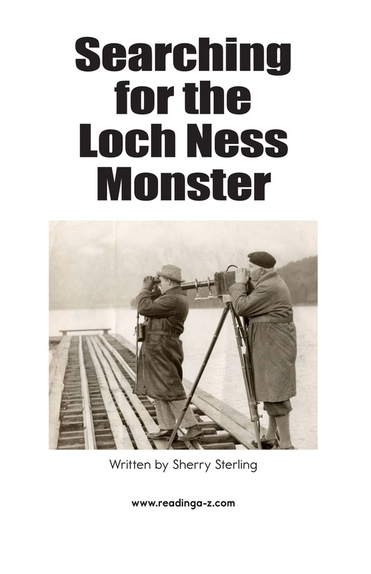 Book Preview For Searching for the Loch Ness Monster Page 2