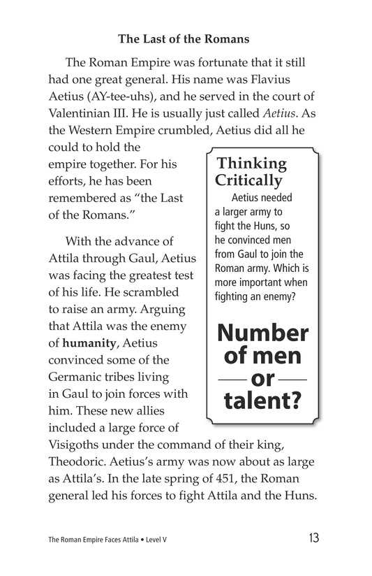 Book Preview For The Roman Empire Faces Attila Page 13