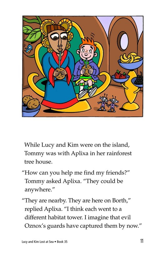 Book Preview For Lucy and Kim Lost at Sea Page 11