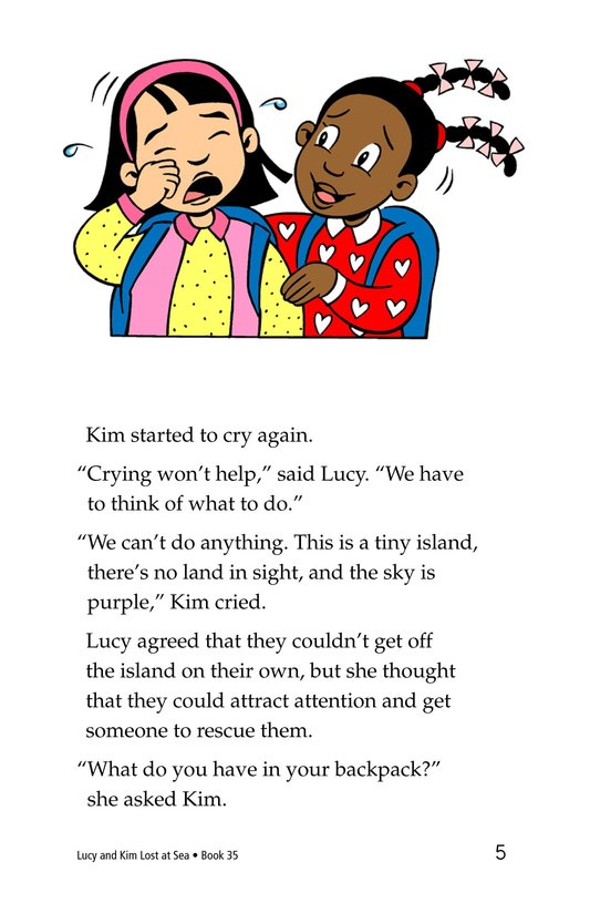 Book Preview For Lucy and Kim Lost at Sea Page 5