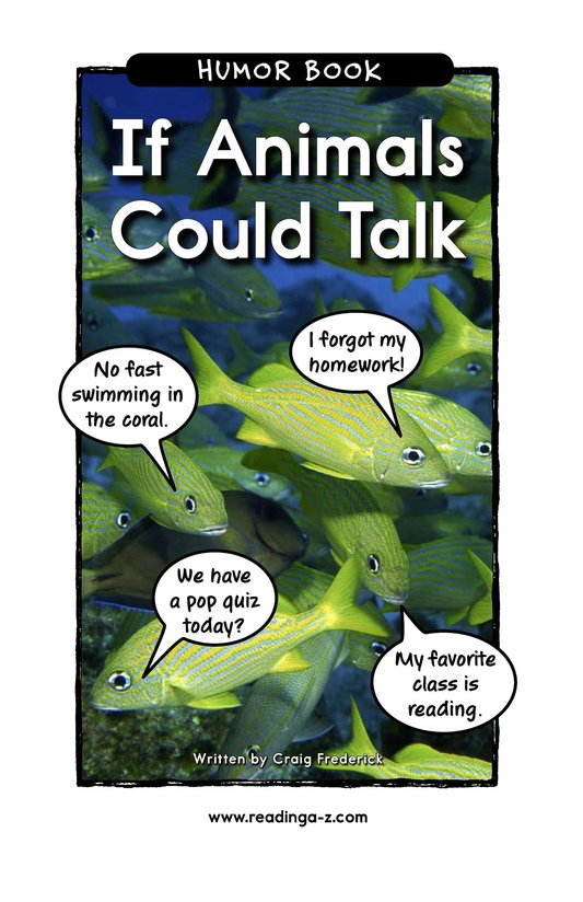 Book Preview For If Animals Could Talk Page 1