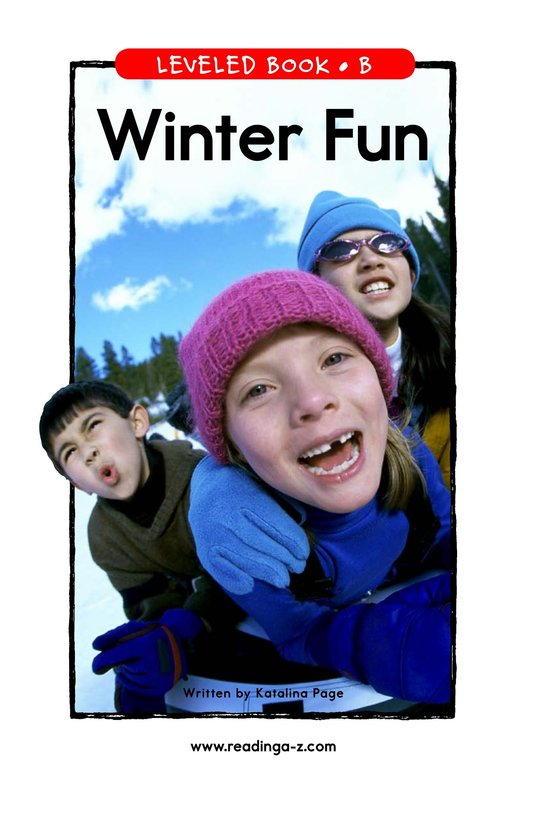 Book Preview For Winter Fun Page 1