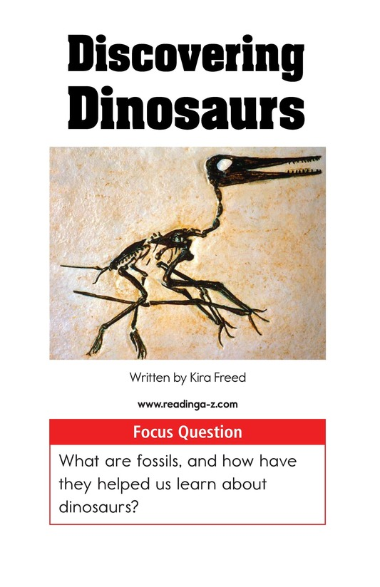 Book Preview For Discovering Dinosaurs Page 1