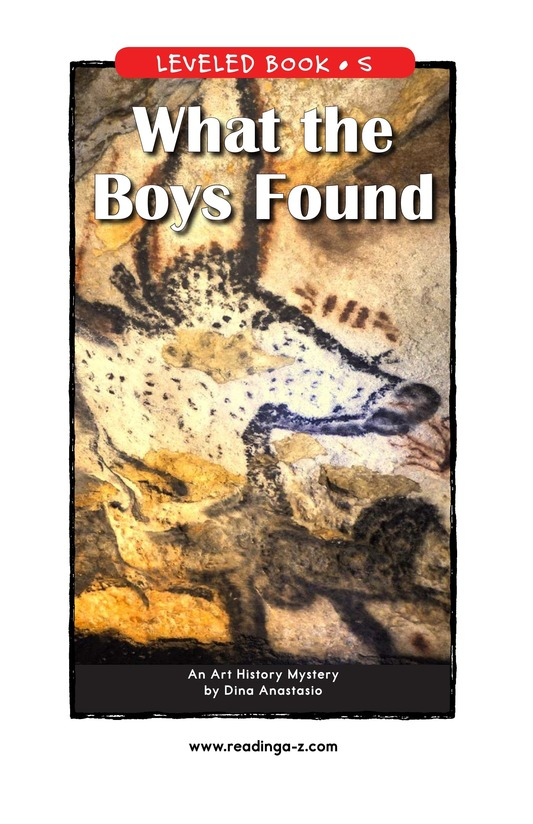 Book Preview For What the Boys Found Page 1