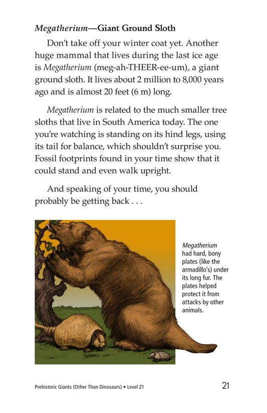 Book Preview For Prehistoric Giants (Other Than Dinosaurs) Page 21