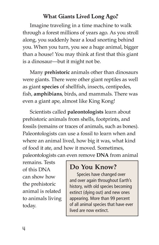 Book Preview For Prehistoric Giants (Other Than Dinosaurs) Page 4
