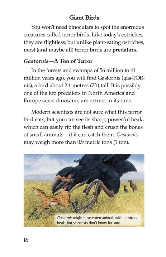 Book Preview For Prehistoric Giants (Other Than Dinosaurs) Page 16