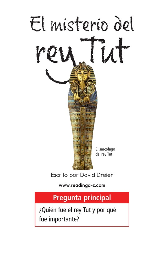 Book Preview For The Mystery of King Tut Page 1