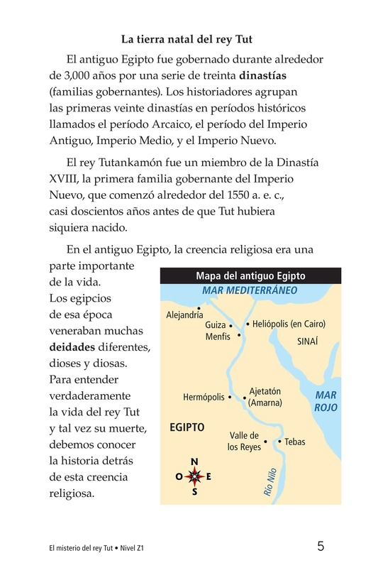 Book Preview For The Mystery of King Tut Page 5