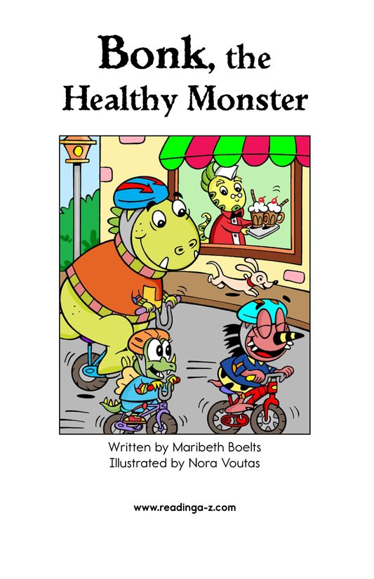 Book Preview For Bonk, the Healthy Monster Page 2