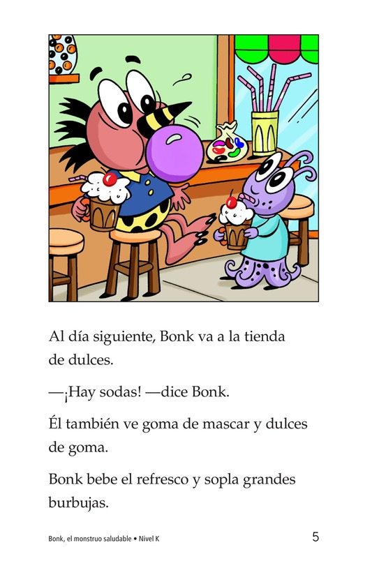 Book Preview For Bonk, the Healthy Monster Page 5