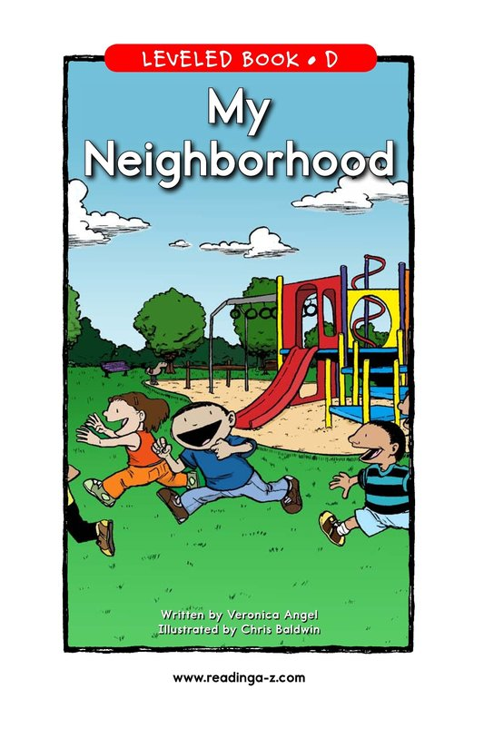 Book Preview For My Neighborhood Page 1