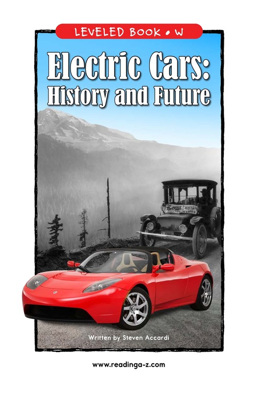 Book Preview For Electric Cars: History and Future Page 1