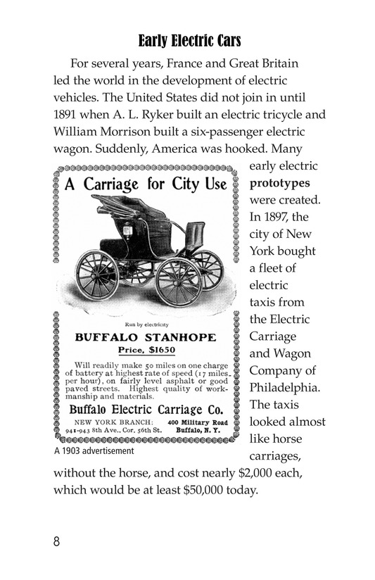 Book Preview For Electric Cars: History and Future Page 8