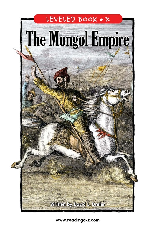 Book Preview For The Mongol Empire Page 1