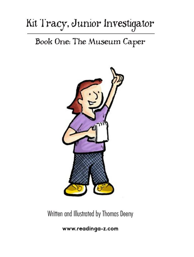 Book Preview For Kit Tracy, Junior Investigator: The Museum Caper Page 2