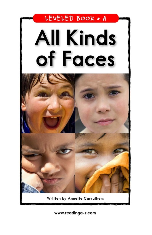 Book Preview For All Kinds of Faces Page 1