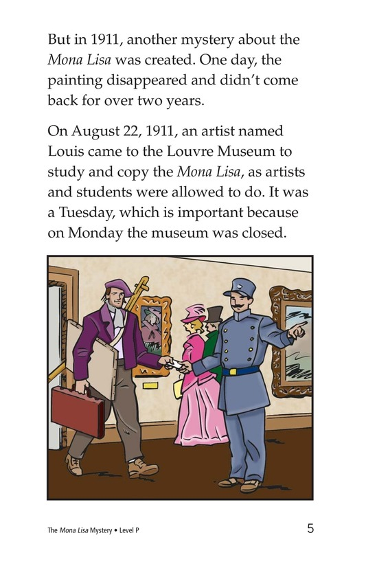 Book Preview For The Mona Lisa Mystery Page 5