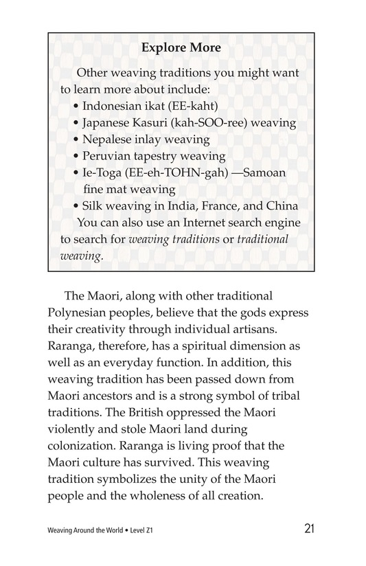 Book Preview For Weaving Around the World Page 21