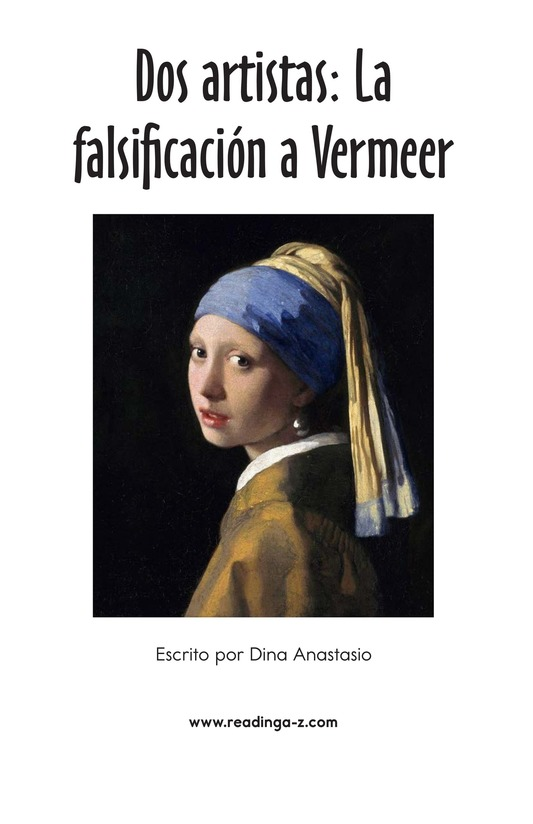 Book Preview For Two Artists: Vermeer's Forger Page 2