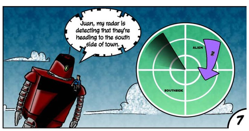 Book Preview For Juan and His Giant Robot: Invasion! Page 9