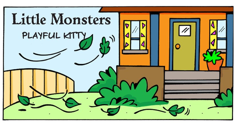 Book Preview For Little Monsters: Playful Kitty Page 1
