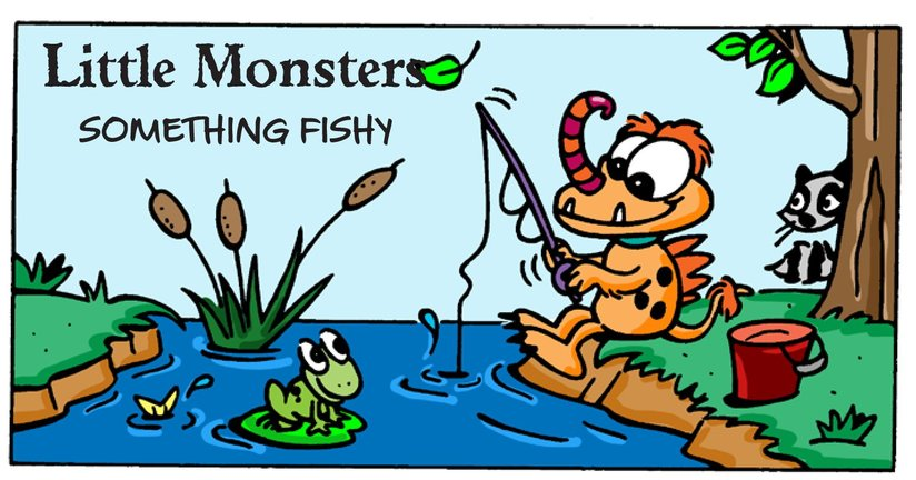 Book Preview For Little Monsters: Something Fishy Page 1