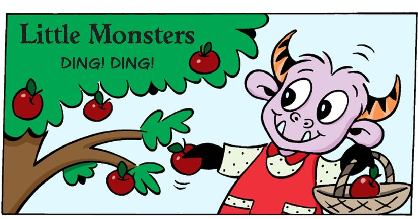 Book Preview For Little Monsters: Ding! Ding! Page 1