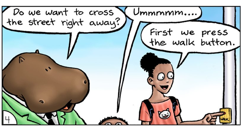 Book Preview For School Days: Mr Hippopotamus and the Street Crossing Adventure Page 6