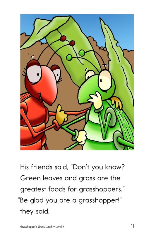 Book Preview For Grasshopper's Gross Lunch Page 11