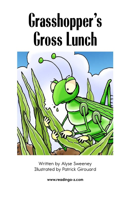 Book Preview For Grasshopper's Gross Lunch Page 2