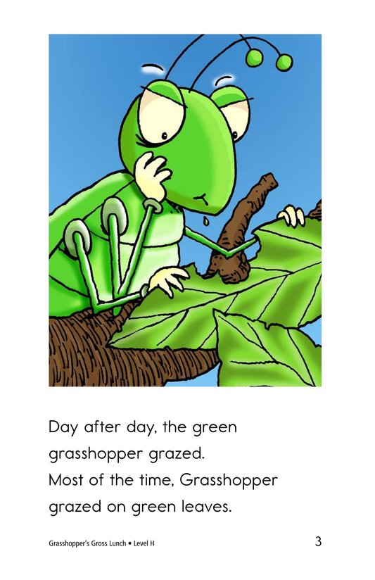 Book Preview For Grasshopper's Gross Lunch Page 3