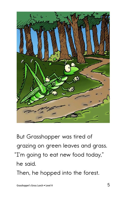 Book Preview For Grasshopper's Gross Lunch Page 5