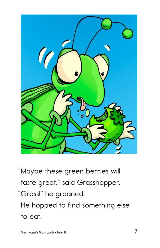 Book Preview For Grasshopper's Gross Lunch Page 7