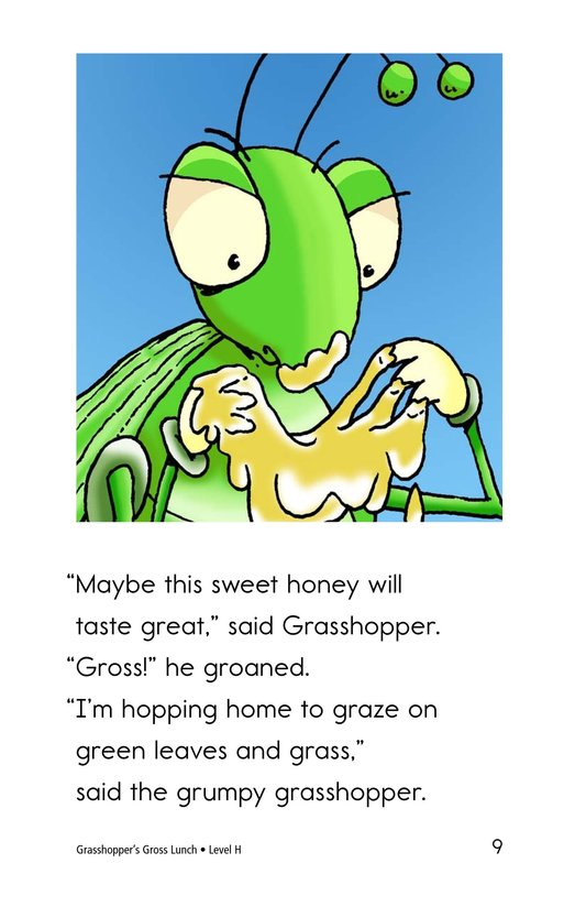 Book Preview For Grasshopper's Gross Lunch Page 9