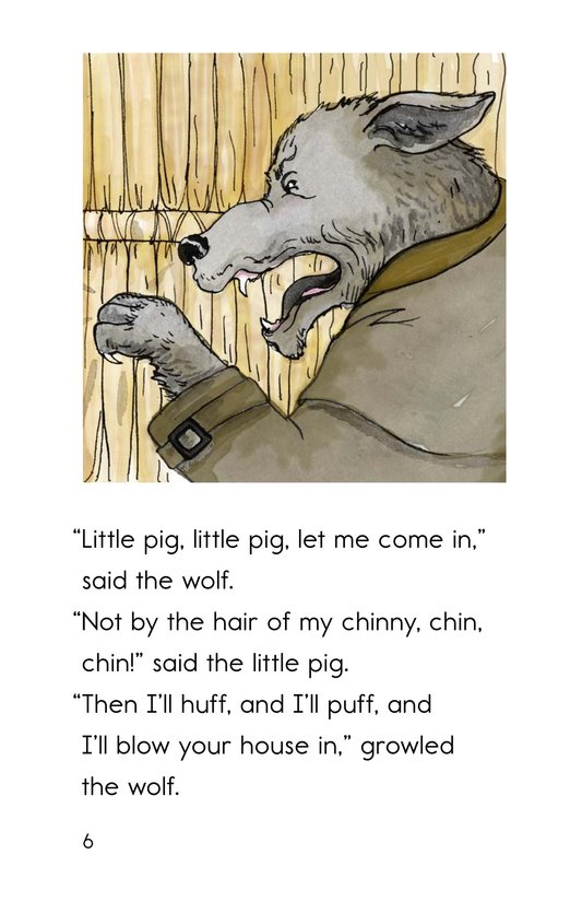 Book Preview For The Three Little Pigs Page 6