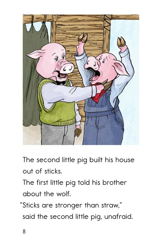 Book Preview For The Three Little Pigs Page 8